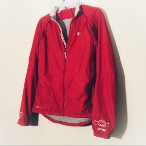 ie/Pearl Izumi Red Windbreaker Style Jacket, Sz L